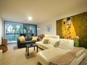 A seating area at 5 Star in Prime Double Bay Location with Balcony