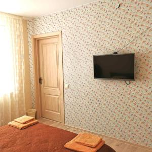 Телевизор и/или развлекательный центр в Гостевой домик в СПА-Банном комплексе Лепота