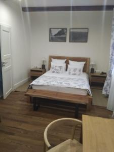 Кровать или кровати в номере Отель Лефкадия