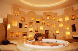 Un baño de Krystal Cancun