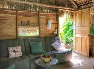 A seating area at Flor y Bambu