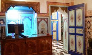 The lobby or reception area at Riad Konouz