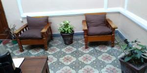 A seating area at Posada De la Ciudadela