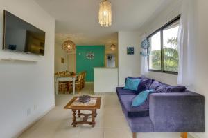 Zona de estar de Belo apartamento em Jureré Internacional