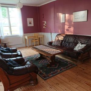 A seating area at Gerum Vandrarhem