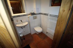 Koupelna v ubytování Apartmány u Knajflů