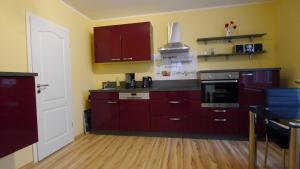 Küche/Küchenzeile in der Unterkunft Villa Am Ehrensteig