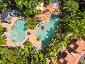 A bird's-eye view of Ashmore Palms Holiday Village
