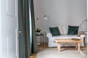 A seating area at Gorgeous studio in Södermalm