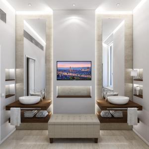 A bathroom at Hotel Pierre