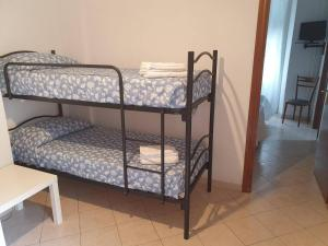 A bunk bed or bunk beds in a room at Hotel Villa Argentina
