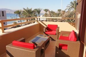 A balcony or terrace at La Riva Hotel