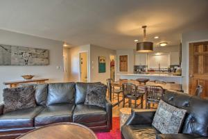 A seating area at Steamboat Springs Condo with Deck Less Than 1 Mile to Lifts!
