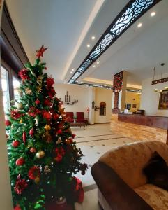 The lobby or reception area at Rumman Hotel