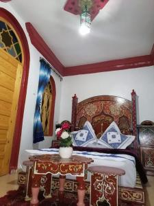 A bed or beds in a room at Hotel Abi khancha