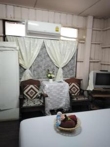 Ein Sitzbereich in der Unterkunft Bankullar