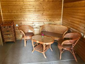 A seating area at Postoronnim VV Guest House