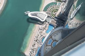 A bird's-eye view of Conrad Abu Dhabi Etihad Towers