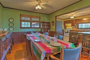 A restaurant or other place to eat at Waterfront Baisden's Bluff Home with Dock & Views!