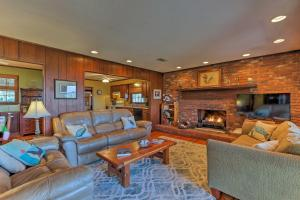 A seating area at Waterfront Baisden's Bluff Home with Dock & Views!