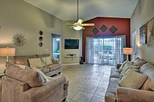 A seating area at House with Pool and Game Room - 15 Mins from Disney!