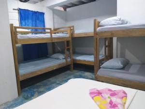 A bunk bed or bunk beds in a room at Hostel Blue Sea Rincon del Mar