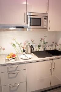 Küche/Küchenzeile in der Unterkunft Apartments am Prinzenplatz - Superior