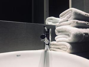 A bathroom at Hotel Zarampallo
