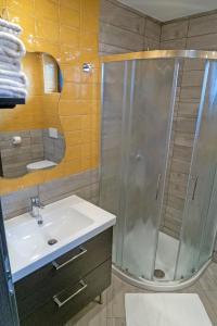 Kopalnica v nastanitvi Apartments Helena Kranjska Gora