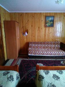 A seating area at Sadyba Zavitaiko