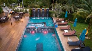 A view of the pool at River Front Krabi Hotel or nearby