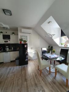 A kitchen or kitchenette at Paula Centar Apartman