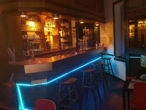 Salon ou bar de l'établissement Hôtel Gambetta