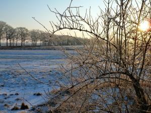 Landhaus Lenzener Elbtalaue during the winter