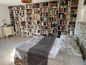 Bibliothèque dans le B&B/chambre d'hôtes