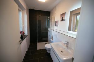 Koupelna v ubytování Ferienhaus Hünzingen № 2
