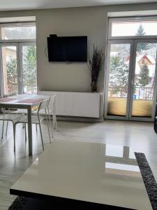 Telewizja i/lub zestaw kina domowego w obiekcie Apartament Kraszewskiego 35