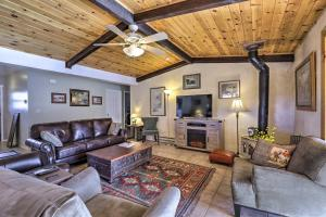 A seating area at Prescott Home on 3 Acres with Granite Mountain Views