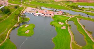 A bird's-eye view of Lake Victoria Serena Golf Resort & Spa