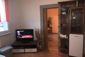 A television and/or entertainment center at Apartman QUATTRO