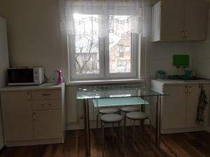 A kitchen or kitchenette at Agroturystyka u Justyny