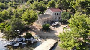Pohľad z vtáčej perspektívy na ubytovanie House Antica