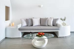 A seating area at Pegasus Suites & Spa