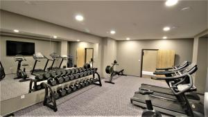 The fitness center and/or fitness facilities at Hotel Magnus Trenčín