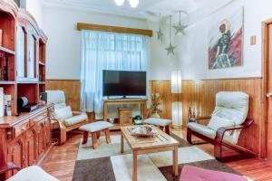 Zona de estar de Hotel Chalet Chapital