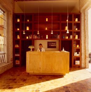 The lobby or reception area at La Purificadora