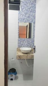 A bathroom at CASA PIRANHAS-AL