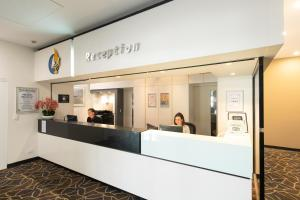 The lobby or reception area at Mawson Lakes Hotel