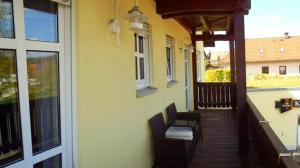 A balcony or terrace at Hotel & Restaurant am Rosenhügel