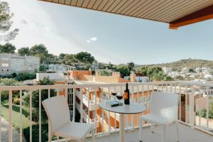 A balcony or terrace at Hesperia Ciudad de Mallorca